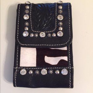 American West Leather Phone Clip